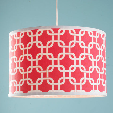 16 Inch Geometric Fretwork Pattern Shade Pendant Light - F100-563