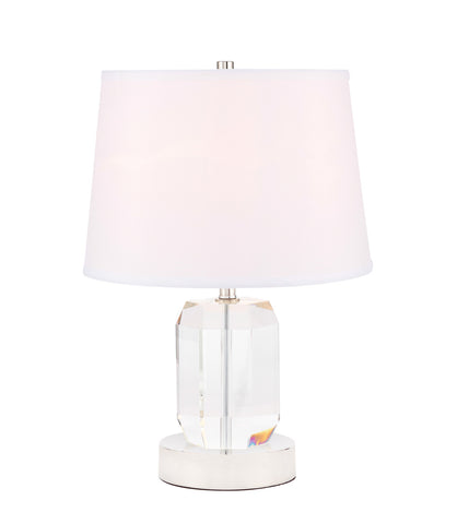 ZC121-TL3047PN - Regency Decor: Wendolyn 1 light Polished Nickel Table Lamp