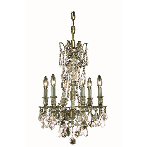 ZC121-9206D16AB/EC By Regency Lighting - Rosalia Collection Antique Bronze Finish 6 Lights Pendant Lamp