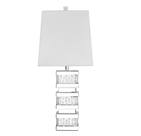 ZC121-ML9312 - Regency Decor: Sparkle Collection 1-Light Silver Finish Table Lamp