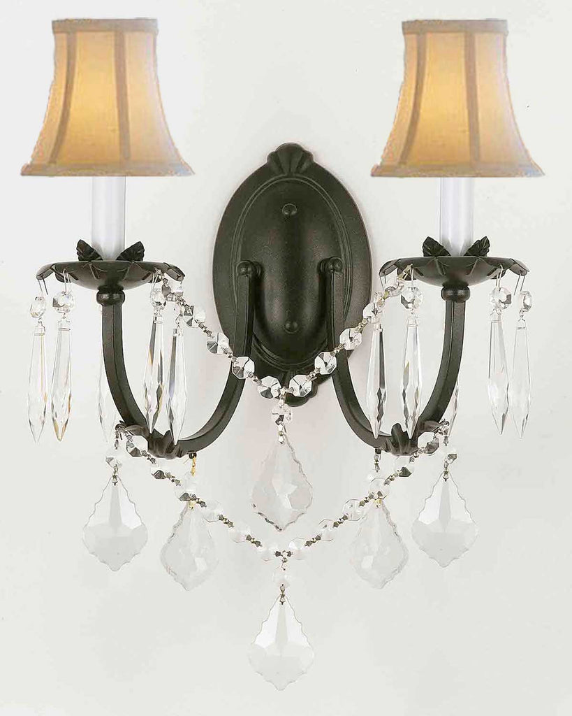 iron wall inessa s antique sconces wrought pair stewart painted sconce