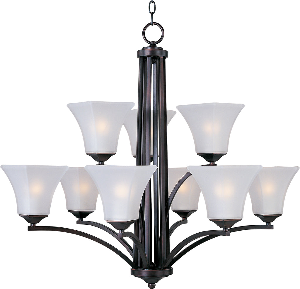 Aurora 9-Light Chandelier Oil Rubbed Bronze - C157-20096FTOI