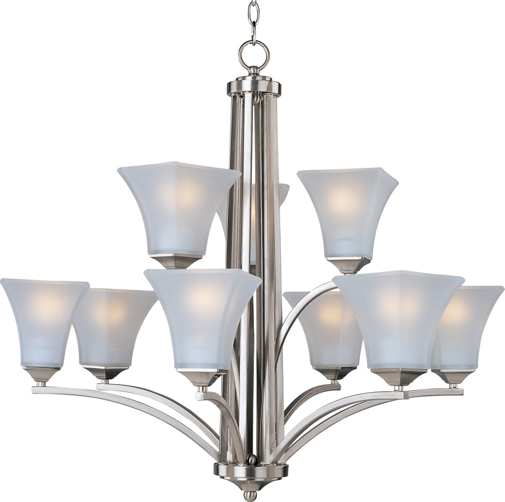 Aurora 9-Light Chandelier Satin Nickel - C157-20096FTSN