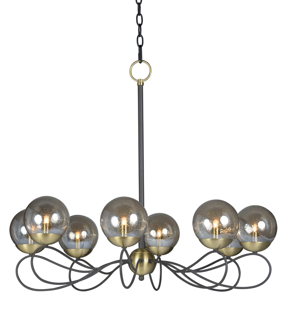 Reverb 8-Light Pendant w/Xenon Bulbs Textured Bronze / Satin Brass - C157-20465TBGTBZSBR/BUX