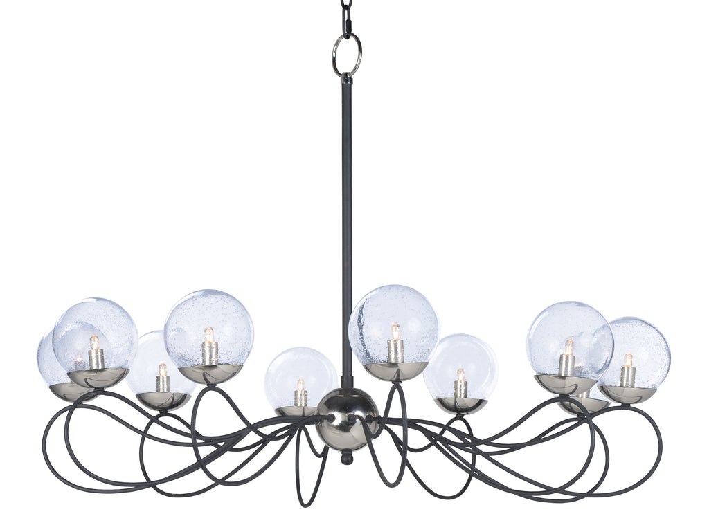 Reverb 10-Light Pendant w/LED Bulbs Textured Black / Polished Nickel - C157-20467BGTXBPN/BUL