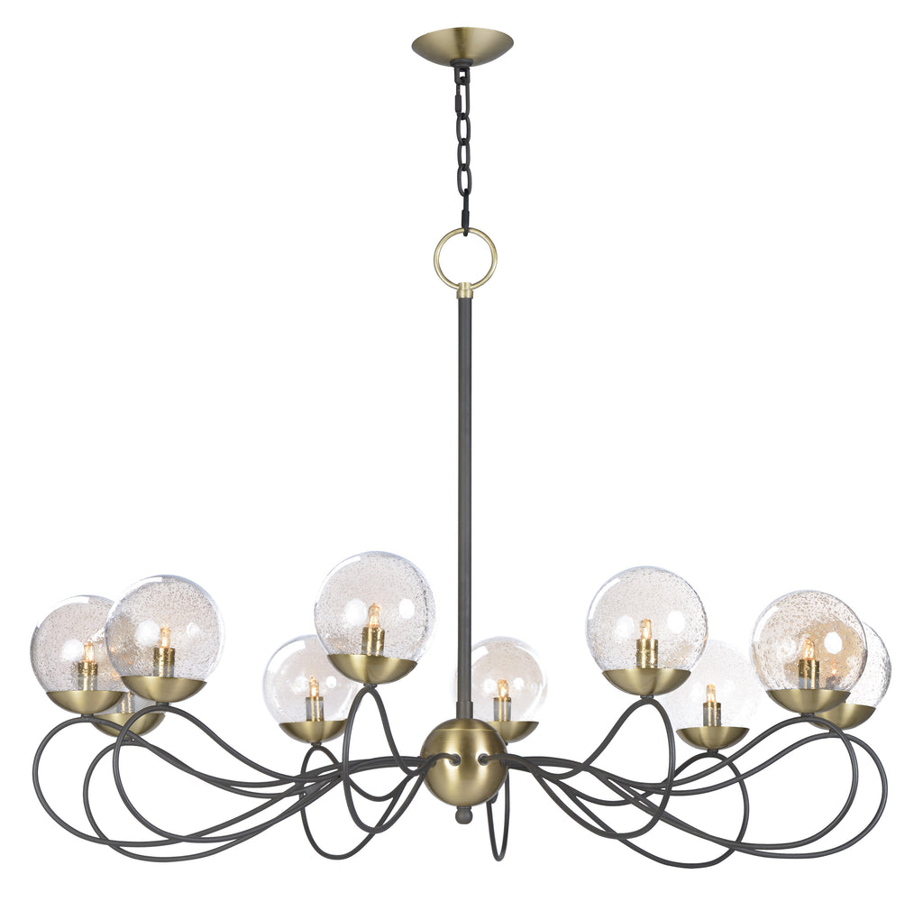Reverb 10-Light Pendant w/LED Bulbs Textured Bronze / Satin Brass - C157-20467TBGTBZSBR/BUL