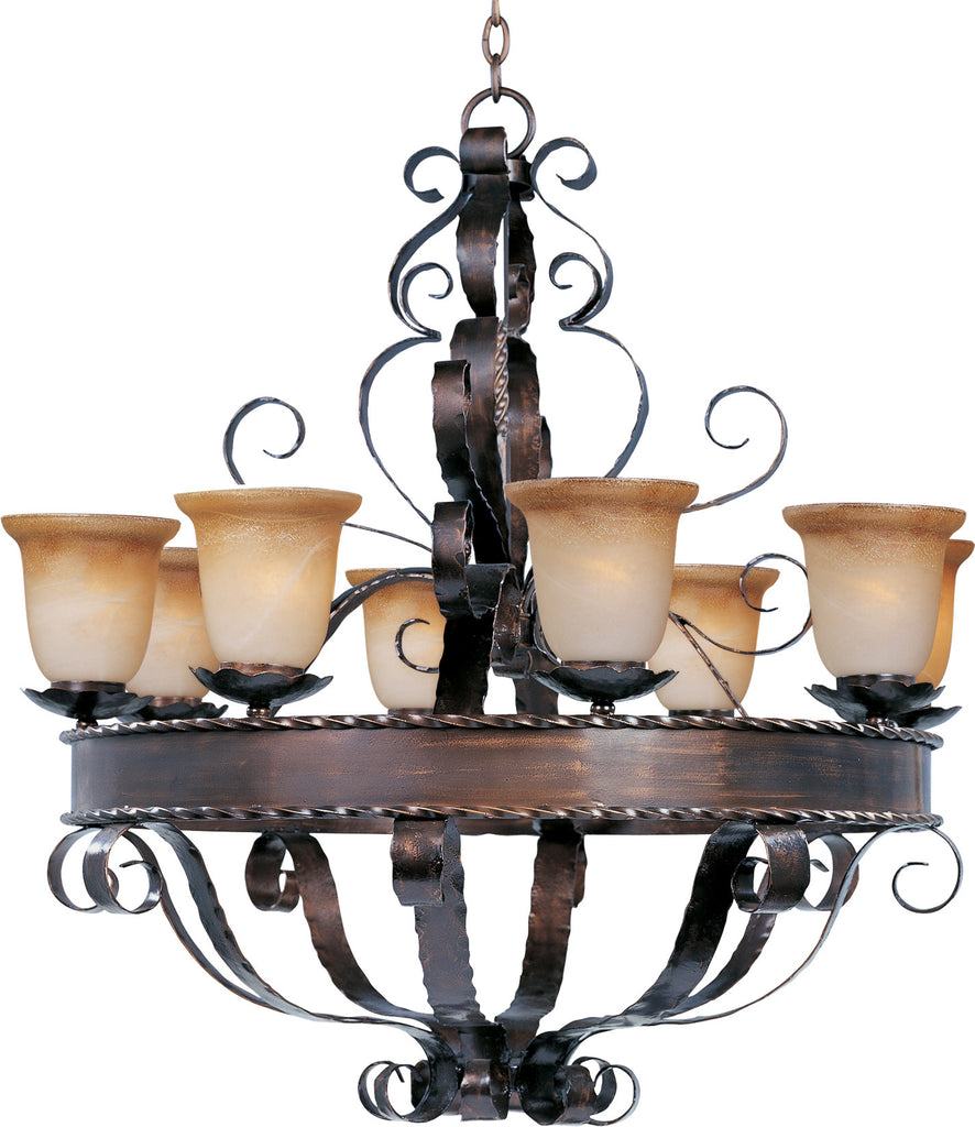 Aspen 8-Light Chandelier Oil Rubbed Bronze - C157-20610VAOI