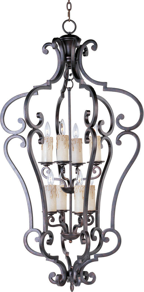 Richmond 8-Light Entry Foyer Pendant Colonial Umber - C157-20744CU