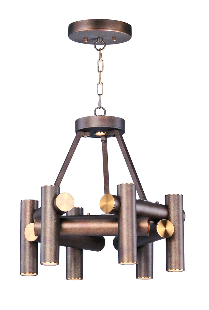 Tubular 7 Light LED Pendant Bronze Fusion / Antique Brass - C157-20824BZFAB