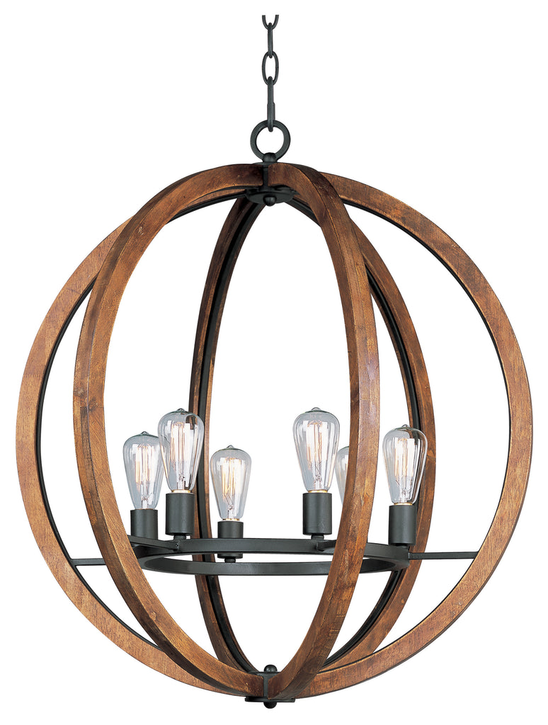 Bodega Bay 6-Light  Chandelier Anthracite - C157-20918APAR
