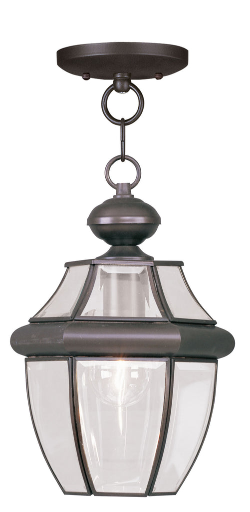 Livex Monterey 1 Light Bronze Outdoor Chain Lantern  - C185-2152-07