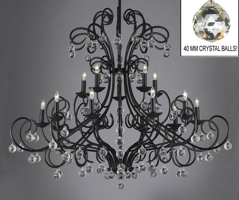 Bellora Crystal Wrought Iron Chandelier Lighting Empress Crystal ... - A7-2160/15