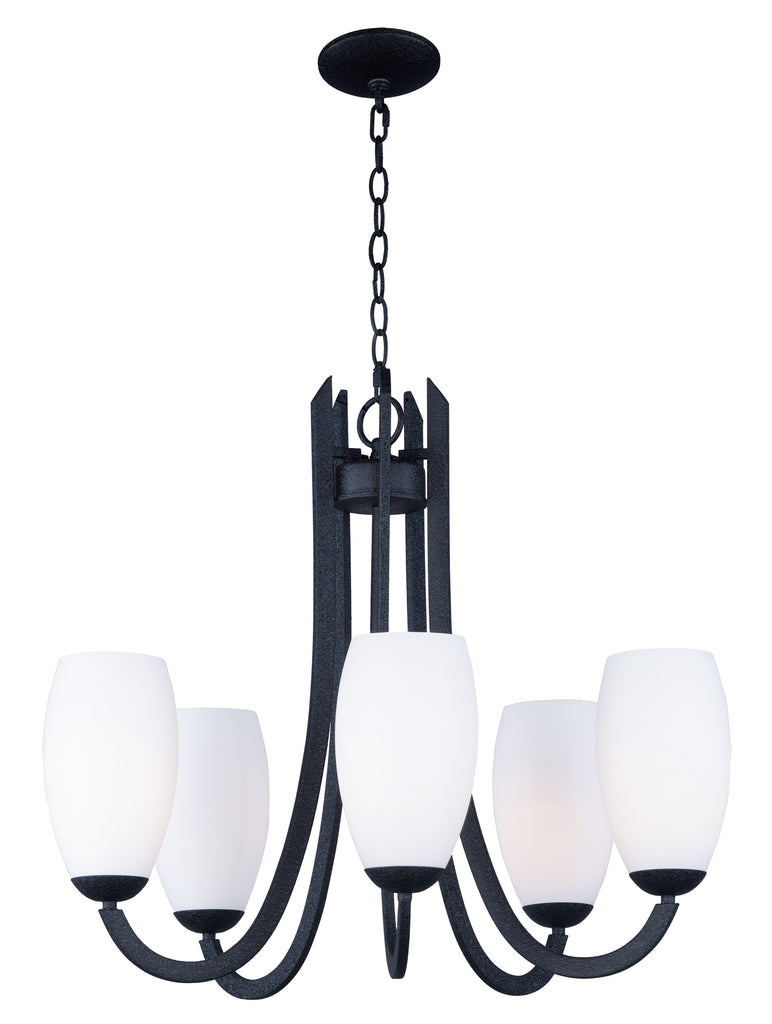 Taylor 5-Light Chandelier Textured Black - C157-21655SWTXB