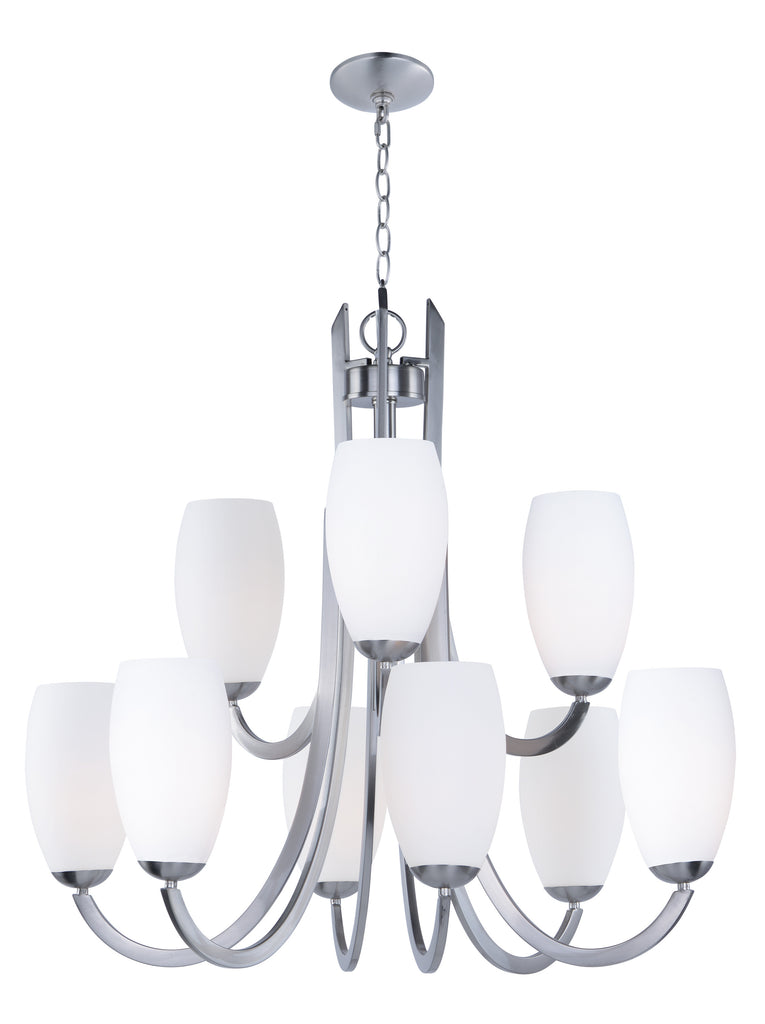 Taylor 9-Light Chandelier Satin Nickel - C157-21657SWSN