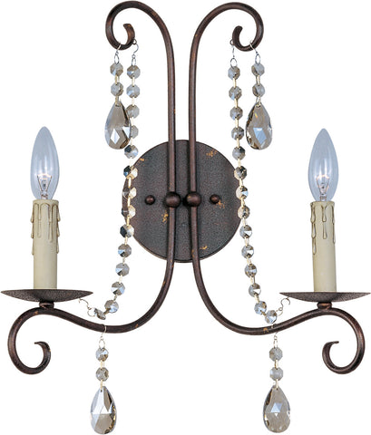 Adriana 2-Light Wall Sconce Urban Rustic - C157-22192UR