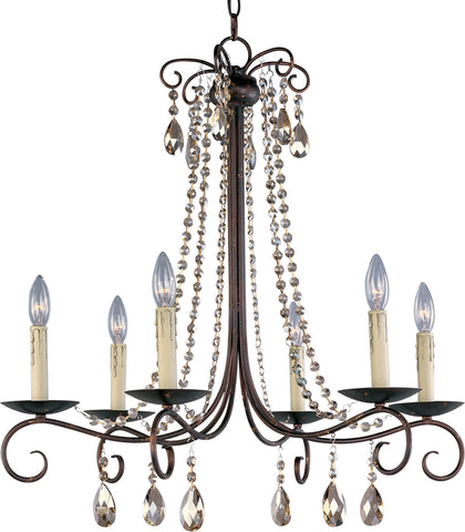 Adriana 6-Light Chandelier Urban Rustic - C157-22196UR
