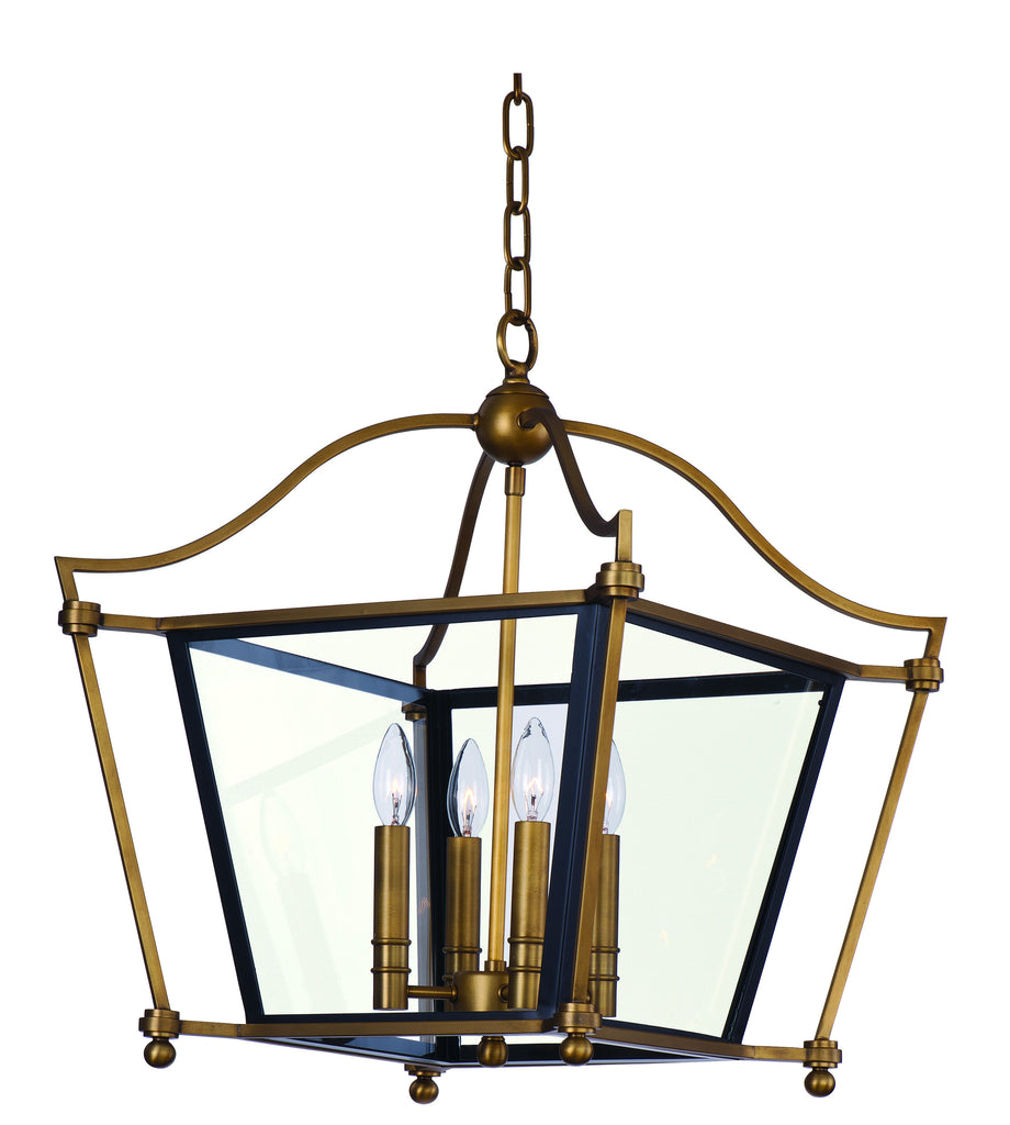 Ritz 4-Light Chandelier Natural Aged Brass - C157-22395CLNAB