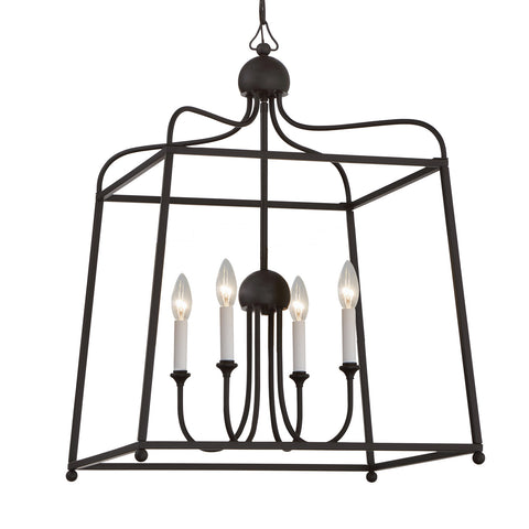 4 Light Dark Bronze Modern Chandelier - C193-2244-DB_NOSHADE