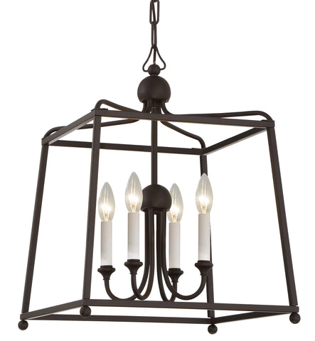 4 Light Dark Bronze Modern Chandelier - C193-2245-DB_NOSHADE