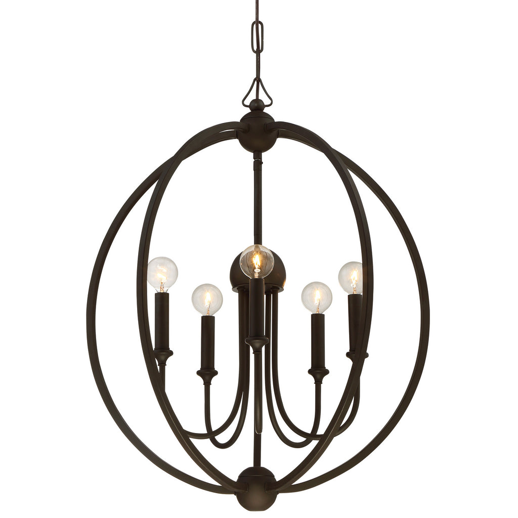 5 Light Dark Bronze Modern Chandelier - C193-2247-DB_NOSHADE
