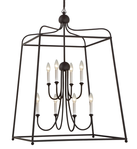 8 Light Dark Bronze Modern Chandelier - C193-2248-DB_NOSHADE
