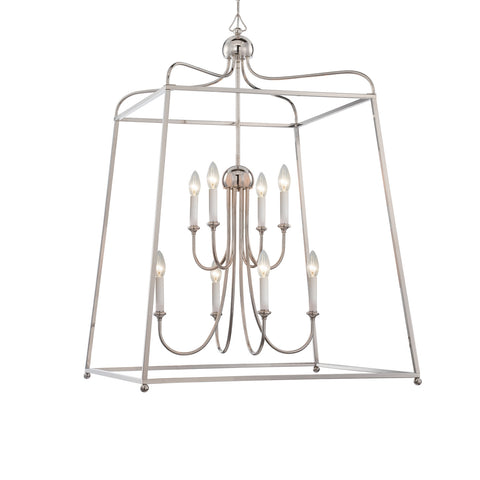 8 Light Polished Nickel Modern Chandelier - C193-2248-PN_NOSHADE