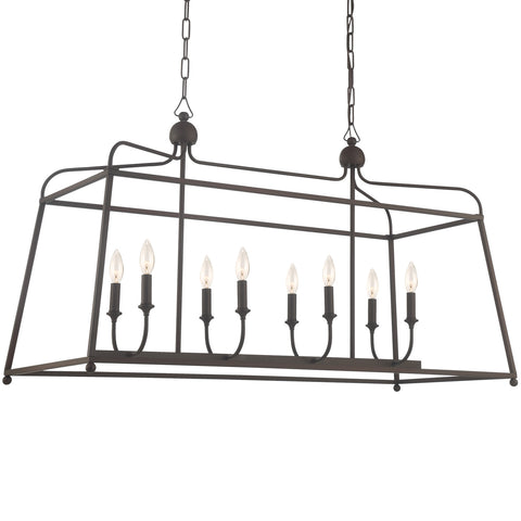 8 Light Dark Bronze Modern Chandelier - C193-2249-DB_NOSHADE