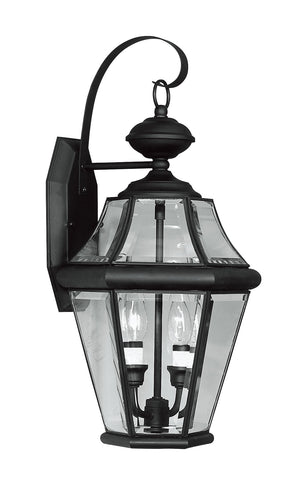 Livex Georgetown 2 Light Black Outdoor Wall Lantern - C185-2261-04