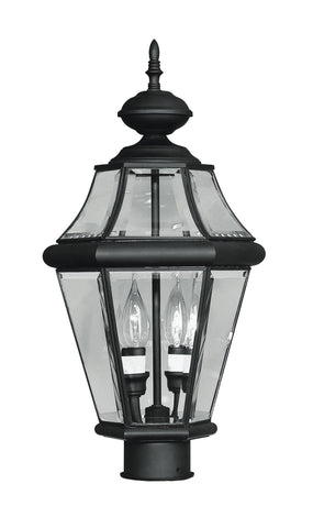 Livex Georgetown 2 Light Black Outdoor Post Lantern - C185-2264-04