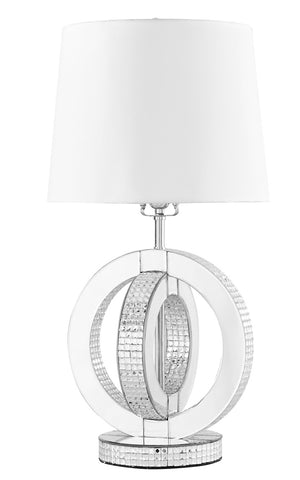 ZC121-ML9306 - Regency Decor: Sparkle Collection 1-Light Silver Finish Table Lamp