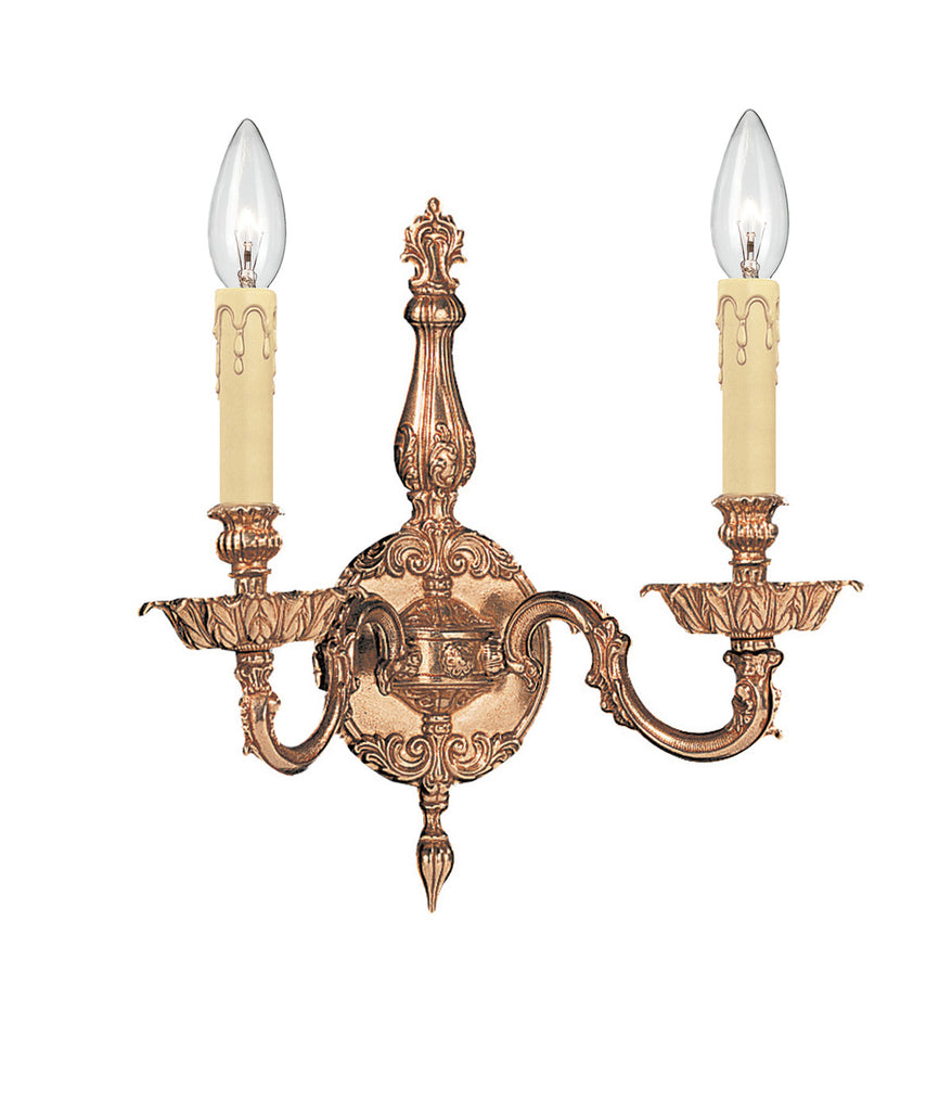 2 Light Olde Brass Traditional Sconce - C193-2402-OB