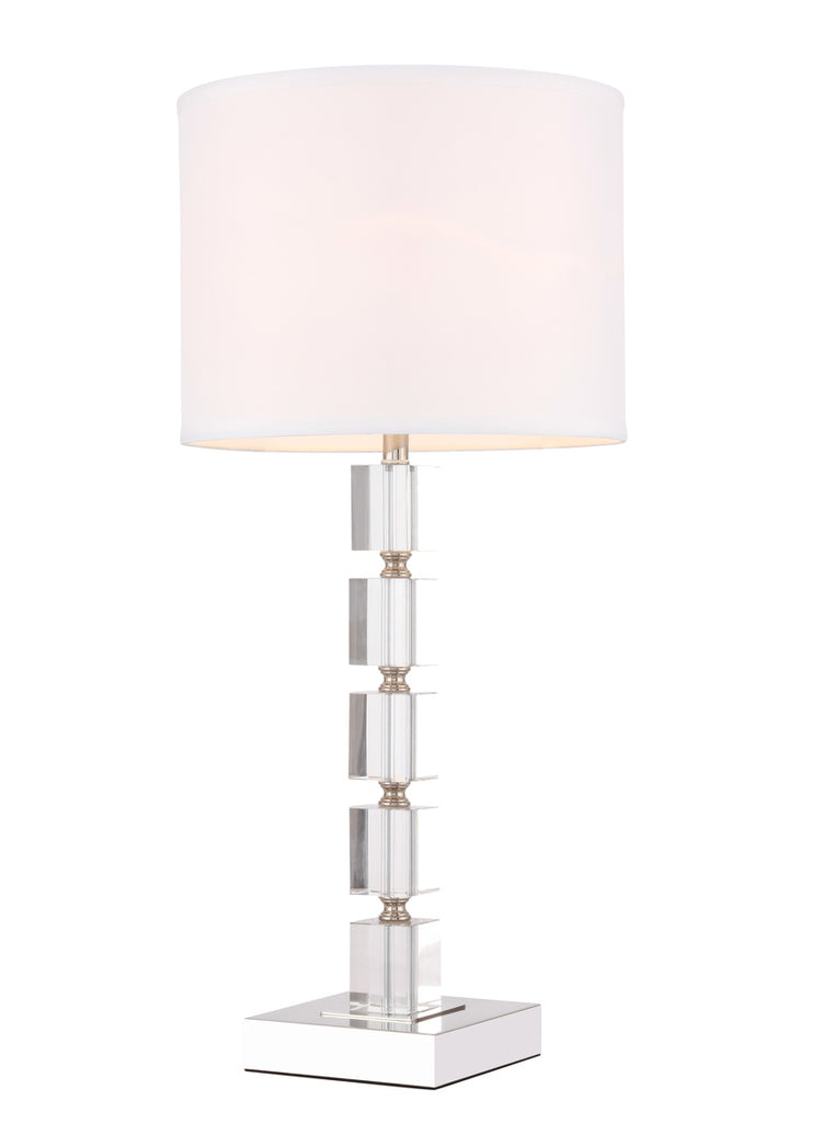 ZC121-TL3024PN - Regency Decor: Palais 1 light Polished Nickel Table Lamp