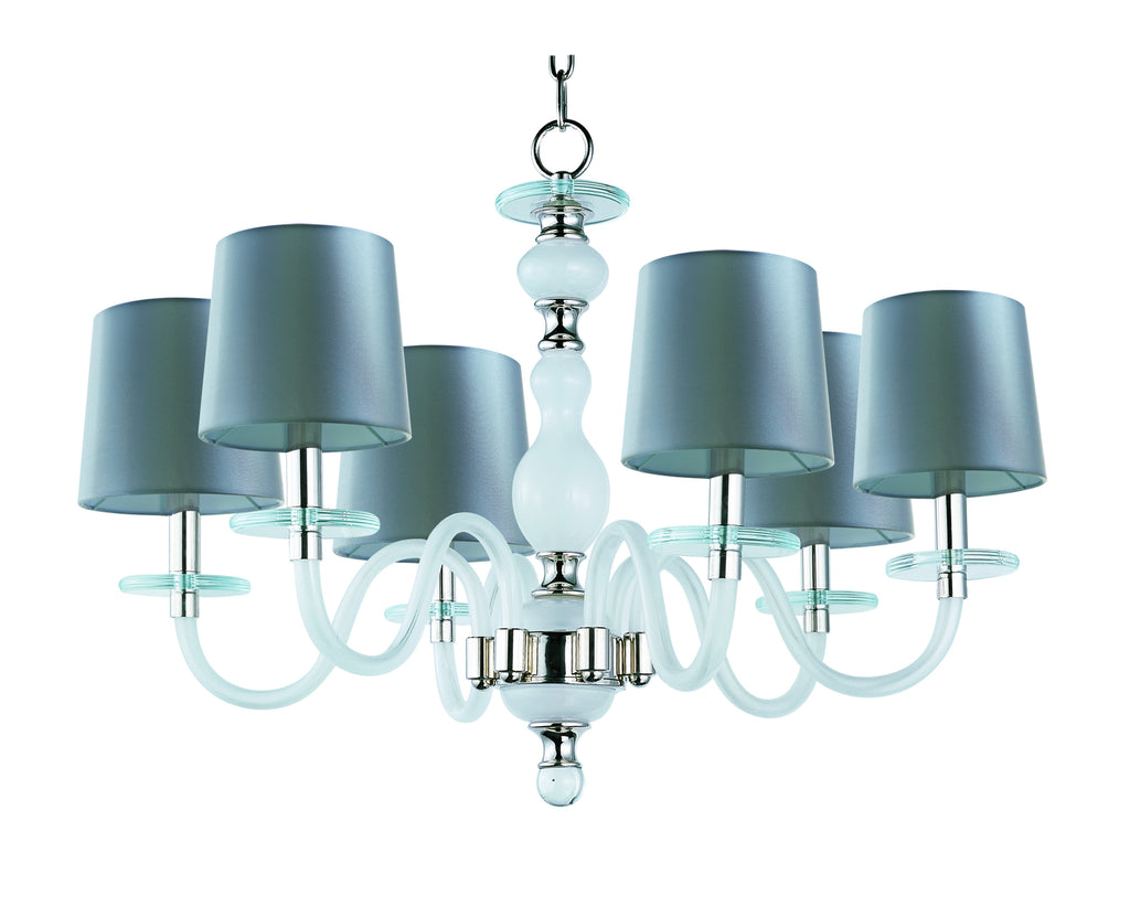 Venezia 6-Light Chandelier Polished Nickel - C157-27546FTPN