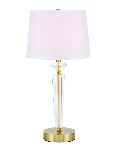 ZC121-TL3030BR - Regency Decor: Annella 1 light Brass Table Lamp