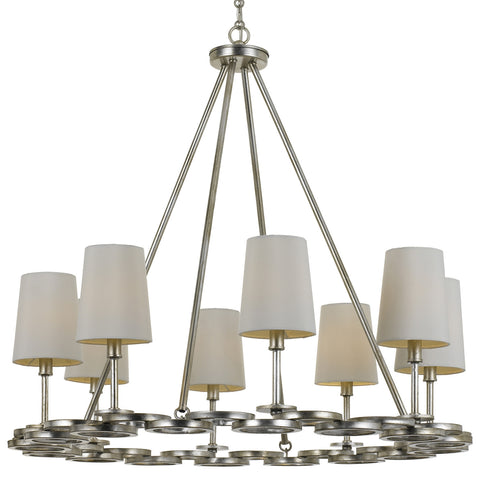8 Light Antique Silver Modern Chandelier - C193-288-SA