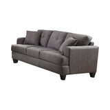 Set of 3 - Samuel Tufted Sofa + Loveseat + Chair Charcoal - D300-10047