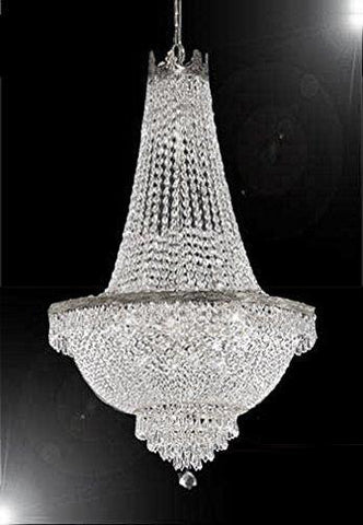 "French Empire Crystal Chandelier Lighting - Great for the Dining Room, Foyer, Entry Way, Living Room H50"" X W24"" - F93-C7/CS/870/9"