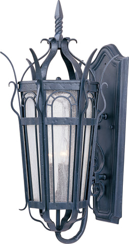 Cathedral 3-Light Outdoor Wall Lantern Country Forge - C157-30042CDCF