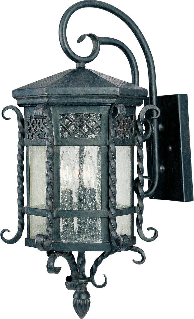 Scottsdale 3-Light Outdoor Wall Lantern Country Forge - C157-30124CDCF