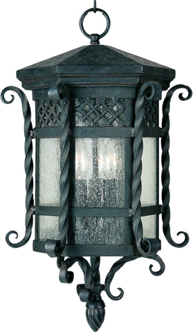 Scottsdale 3-Light Outdoor Hanging Lantern Country Forge - C157-30128CDCF