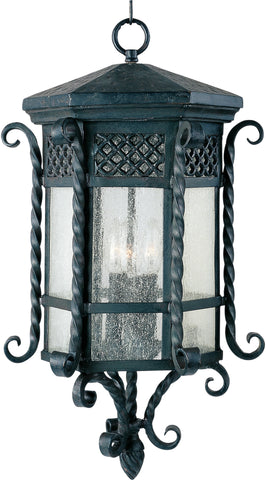 Scottsdale 3-Light Outdoor Hanging Lantern Country Forge - C157-30129CDCF