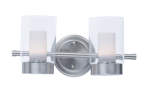 Mod 2-Light Vanity Satin Nickel - C157-30262CLFTSN