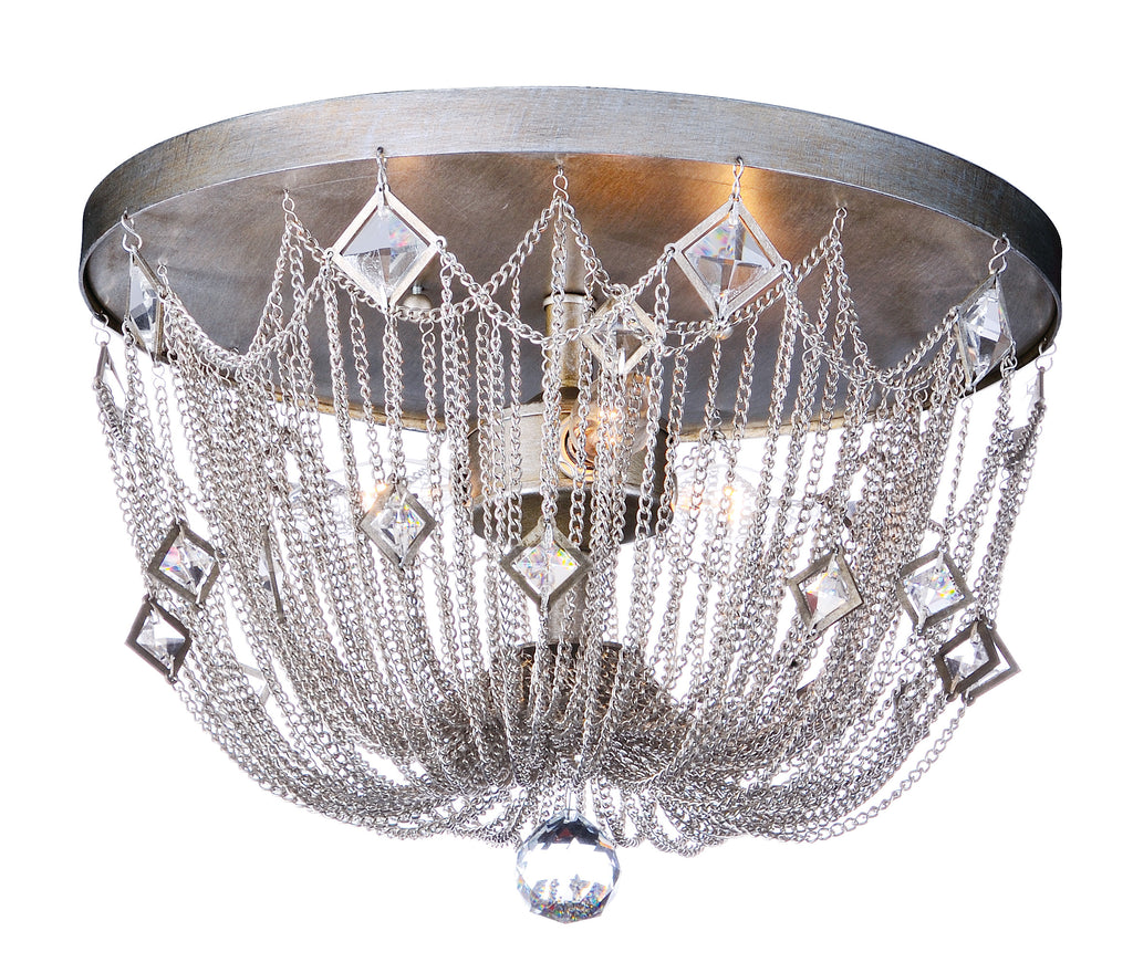 Alessandra 3-Light Flush Mount Silver Mist - C157-30270SM