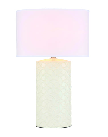 ZC121-TL3032WH - Regency Decor: Alois 1 light White Table Lamp