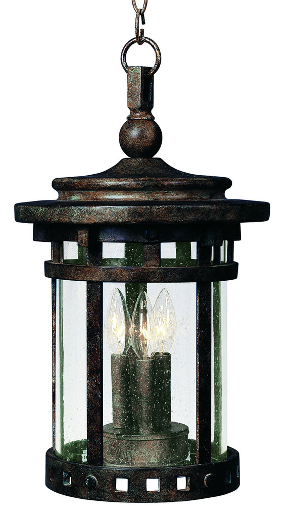 Santa Barbara Cast 3-Light Outdoor Hanging Lantern Sienna - C157-3138CDSE