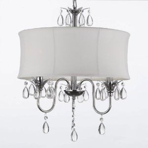 Swag Plug In-Chandelier W/ 14' Feet Of Hanging Chain And Wire! - A7-B15/White/834/3