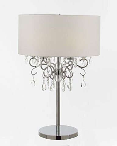 Silver Mist Metal and Crystal 6 Light Table Lamp Bedside Lamp Desk Lamp - T204-200/6 LAMP
