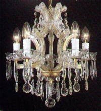"Swarovski Crystal Trimmed Chandelier The Gallery Maria Theresa 4 Lights Chandelier H15"" X W15"" - A83-1536/4Sw"