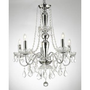 Swarovski Crystal Trimmed Chandelier Elegant 5 Light Chandelier Pendant Lighting Fixture Light Lamp - J10-26017/5Sw