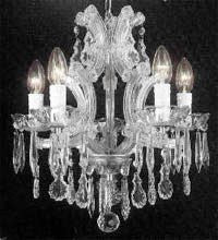 "Maria Theresa Crystal Chandelier H15"" X W15"" - A83-Silver/1536/4"